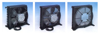 Fan cooled tubeless steel condensers
