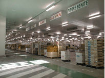 FRUIT AND VEGETABLE STOCK WAREHOUSE - Lyon - France.HDI industrial unit coolers