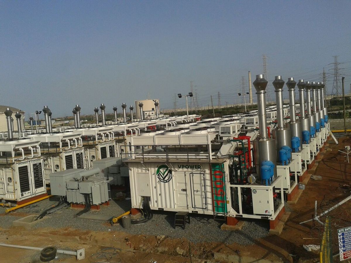 36 MTU Onsite Energy brand natural-gas-powered gensets for a gas power plant in Accra, Ghana. The 'VRA Tema Thermal Power Plant' was built and is operated by the VPower Group. <br><br>