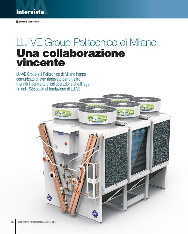 LU-VE Group-Politecnico di Milano: una collaborazione vincente