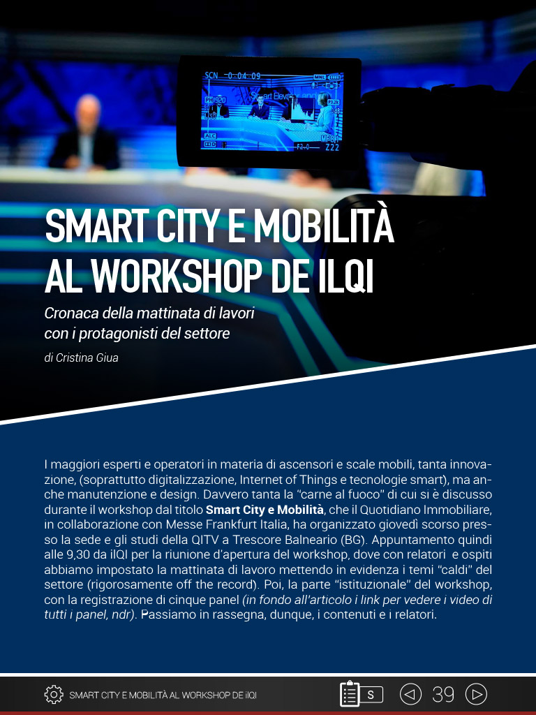 Smart city e mobilità al workshop de ILQI