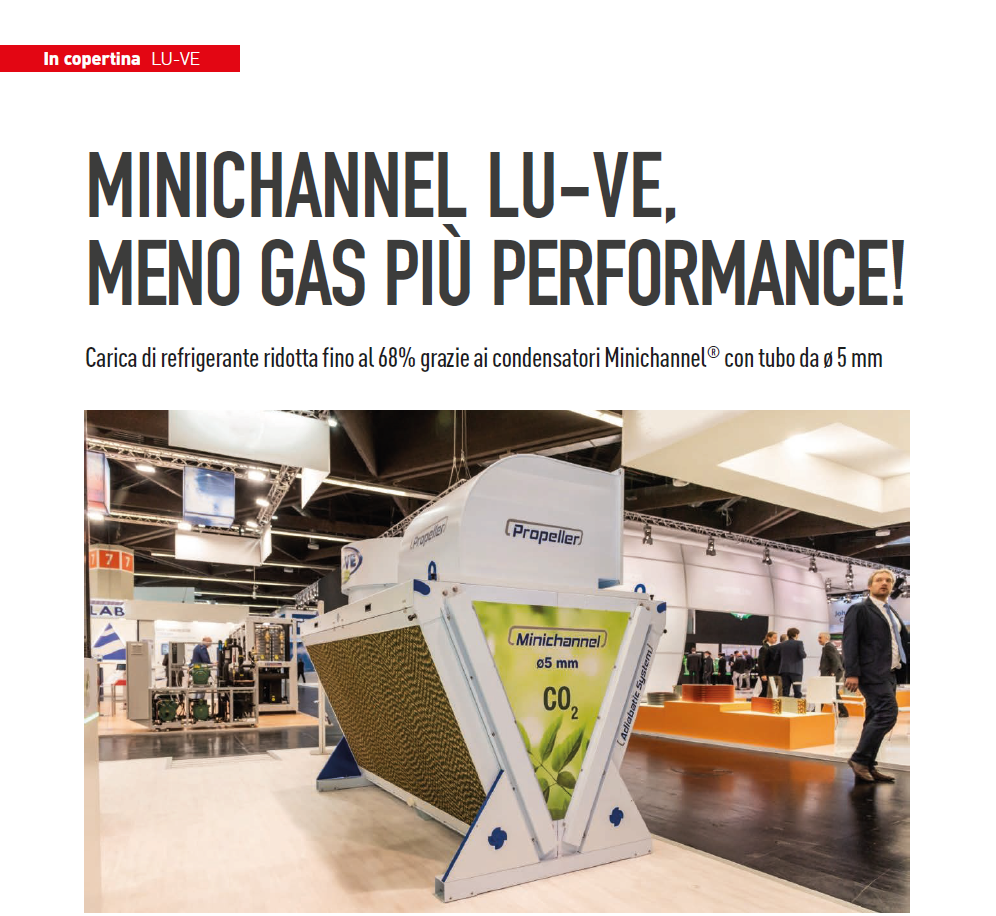 Minichannel LU-VE, meno gas più performance