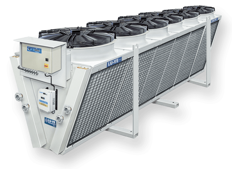 Dry coolers with single fan-row V coils XDHL
